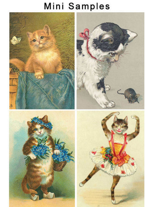 Product picture Vintage Cats Images 100