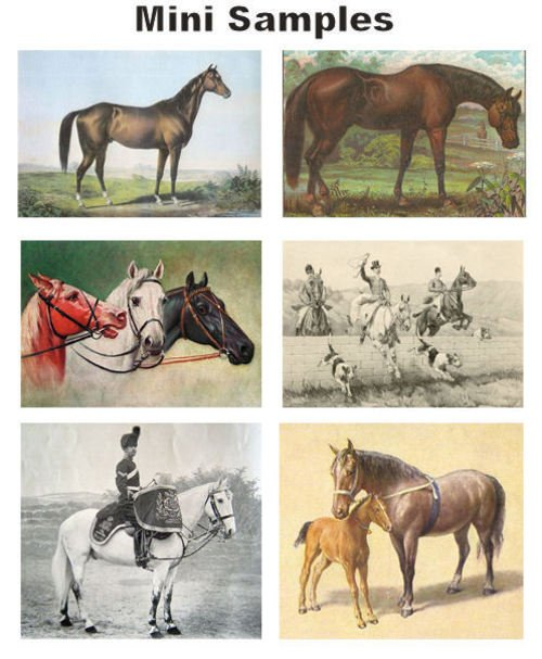 Product picture Vintage Horses Images 800