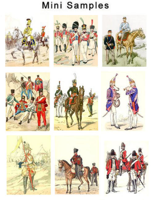 Product picture Vintage Napoleonic Uniform Images 700