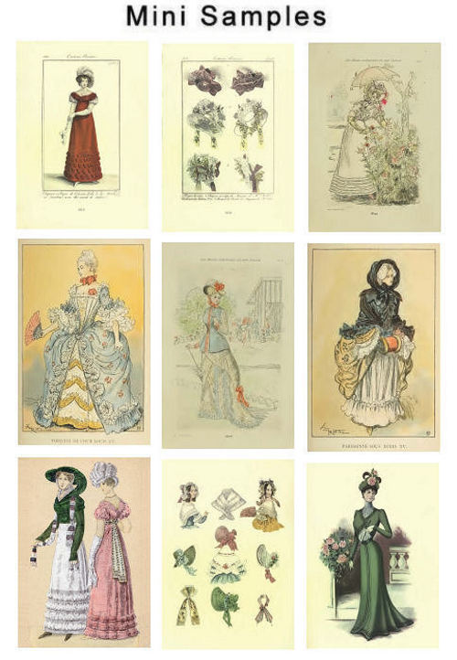 Product picture Vintage French Fashion Images HQ 518
