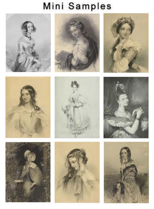 Product picture Vintage Ladys Beauty Images HQ 386