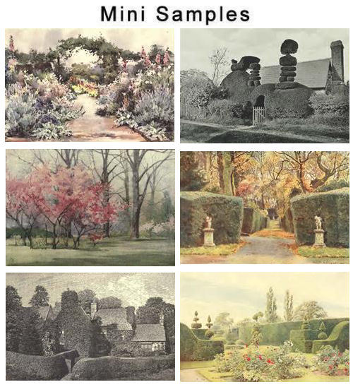 Product picture Vintage English Gardens Images HQ 455