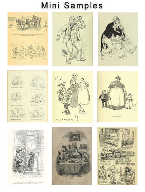 Product picture Humorous sketches Illustrations Vintage Images HQ 712