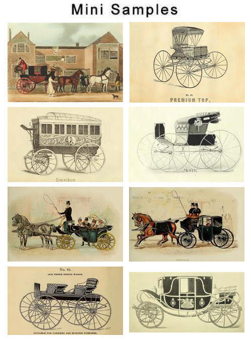Product picture Carriages Coaches Wagons Vintage Images HQ 800