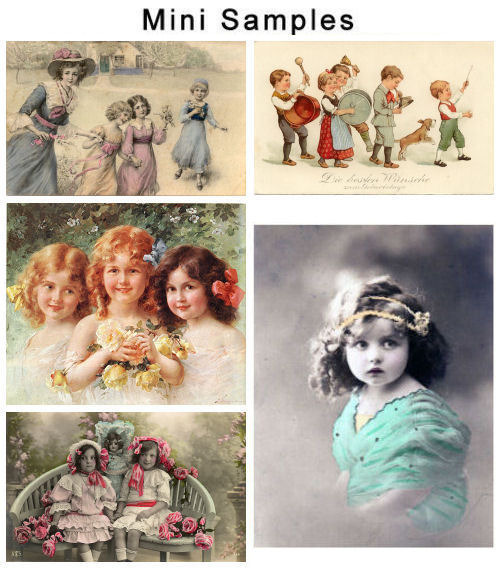 Product picture Collection of 2 files Vintage Children Images
